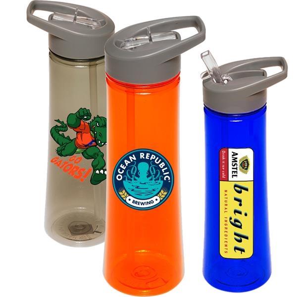 22 oz Sports Bottle w/ Flip top spout Printed Water Bottle