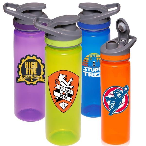22 oz Flip Top Sports Bottles w/ Screw-on Caps Water Bottle