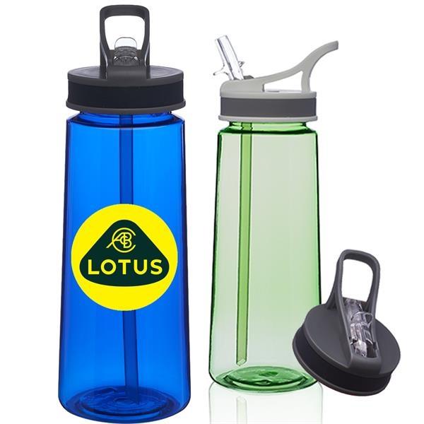 Classic 22 oz Sports Bottles w/ Straw Printed Water Bottle