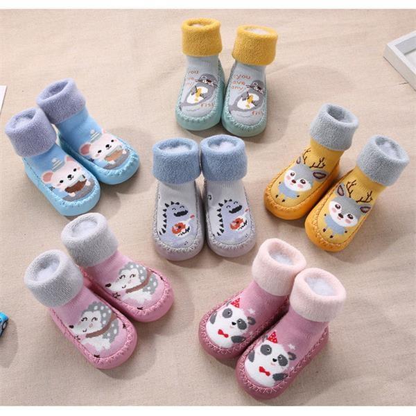 Baby  Non-Skid Indoor Slipper Winter Warm Shoes Socks