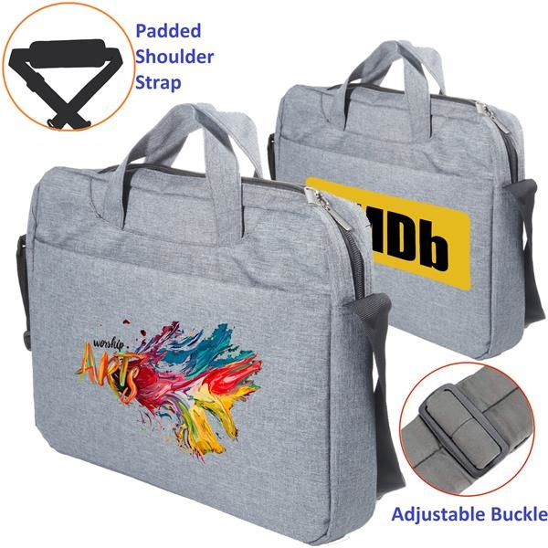 Two Tone Laptop Bag w/ Shoulder Strap Padded Laptop Sleeve