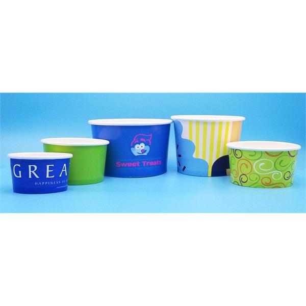 Custom Paper Dessert & Soup Cup 4oz to 48oz