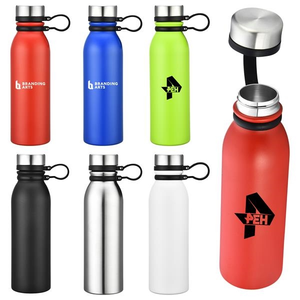 20oz Double Wall Stainless Steel Vacuum Tumbler With Carryin