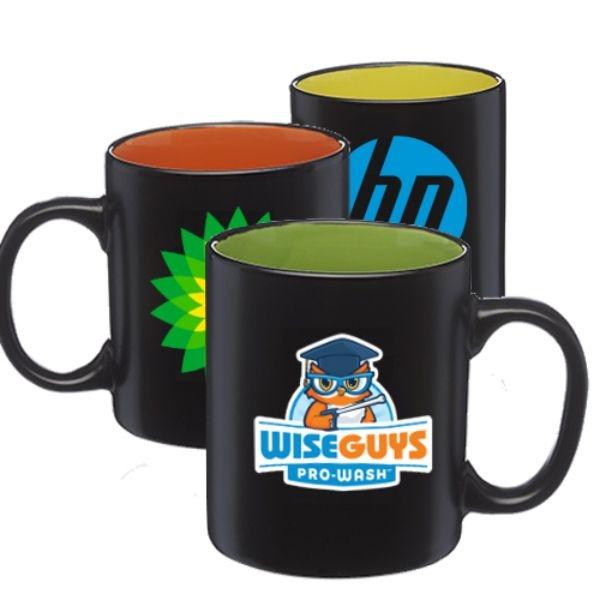 Two-Tone Coffee Mug w/ Custom Imprint 11 oz. Drinkware Matte