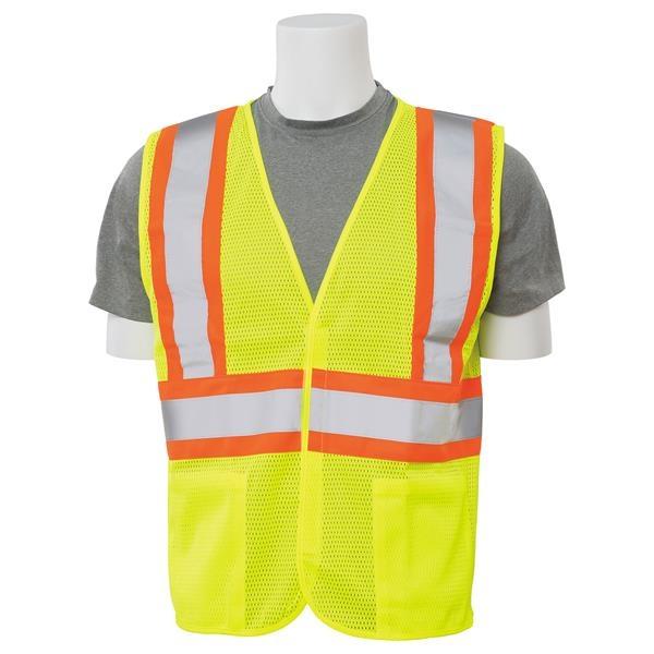 Contrasting Trim Mesh Safety Vest (Class 2)