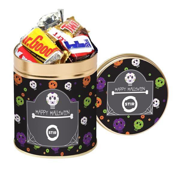 Quart Tin with Halloween Candy Mix