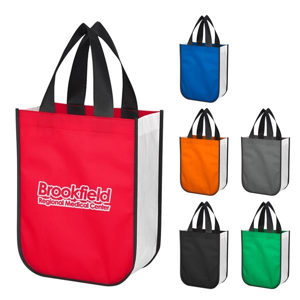 Non-Woven Shopper Tote Bag With 100% RPET Material