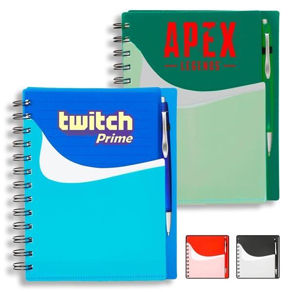 Classic Spiral Notebook w/ Custom Logo Two-Tone Notebooks