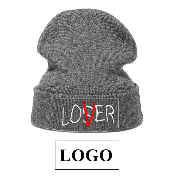 LOGO Embroidery Knit Cap