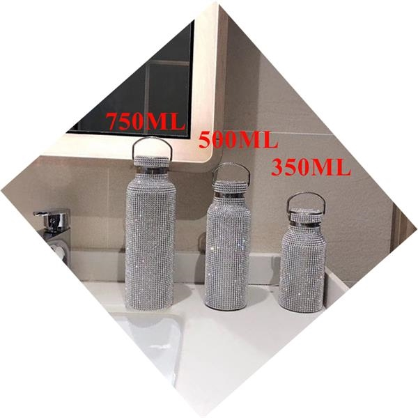 17oz. Stainless Steel Vacuum Flask Fashion Articial Dimond