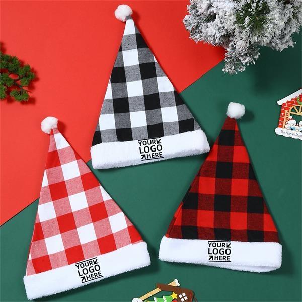 Plaid Christmas hat