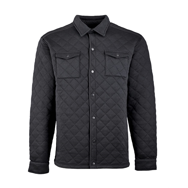 J. America Quilted Jersey Shirt Jacket