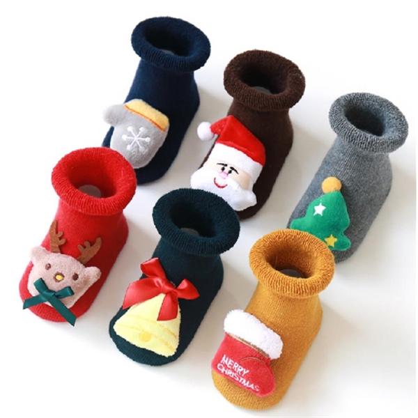 Kids Christmas Cartoon Socks