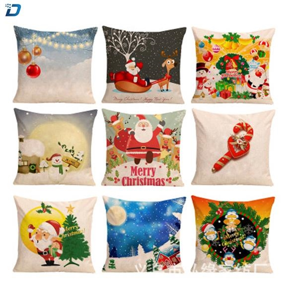 Pillow Covers Merry Christmas Decorative