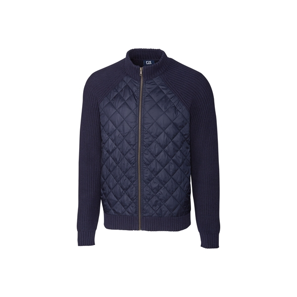 Walter Full Zip Quilted Sweater Jacket Big & Tall