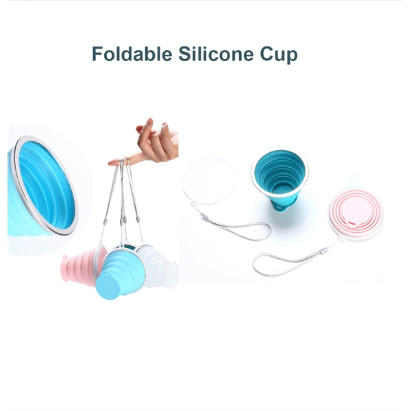 12Oz Silicone Collapsible Travel Cup