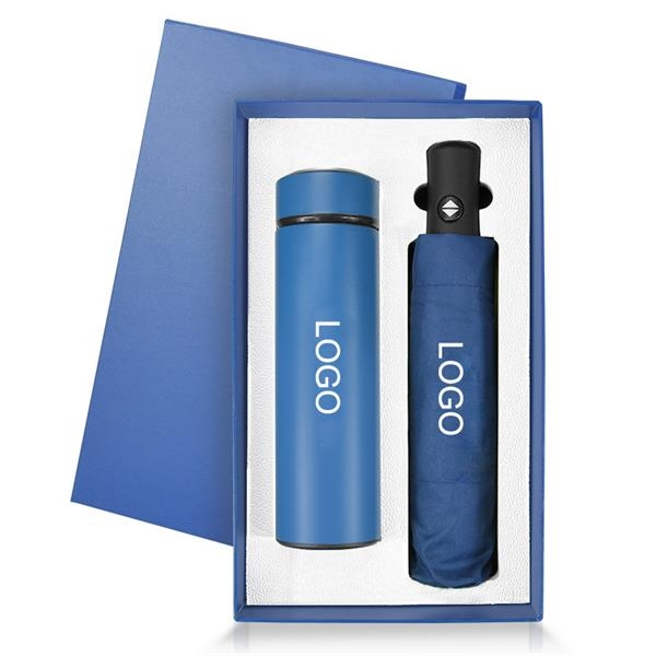 2 in 1 Business Gift Sets  ( Thermos cup+umbrella)