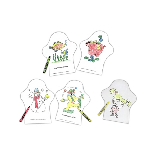 Color Me (tm) - 3 Working Days - Hand Puppets With Colorable Feature On Both Sides Photo