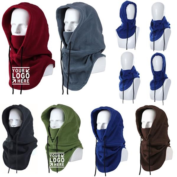 Polar Fleece Ski Face Mask/Windproof Hat/Winter Hooded