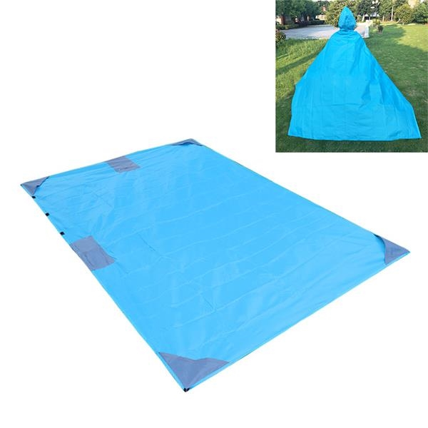 Multifunctional Rain Poncho Pocket Blanket