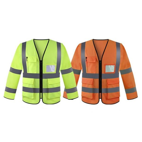 High Visibility Workwear Safety Jacket Long Sleeve
