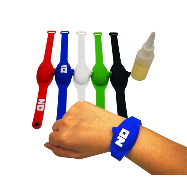 Silicone Bracelets Sanitizer Dispenser, 0.5 oz.