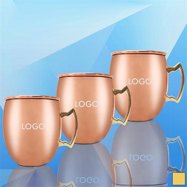 2Oz. Copper Coated Stainless Steel Moscow Mule Cup w/ Handle