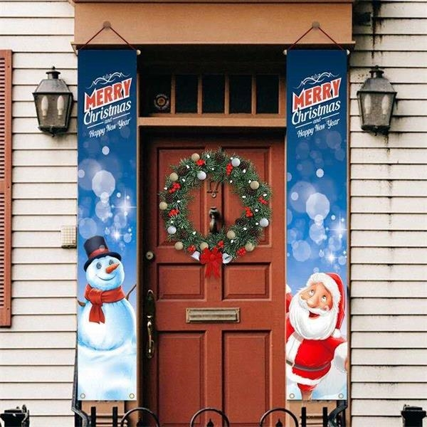Merry Christmas Door Banners set