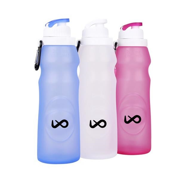 20 OZ Collapsible Water Bottle Foldable Silicone Bottle