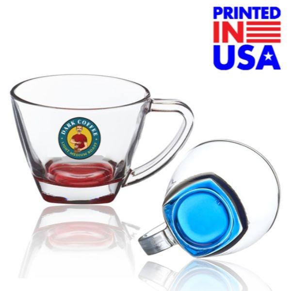 6 oz. Classis Glass Coffee Mugs w/ Custo