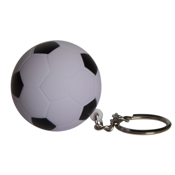 Squeezies (R) Soccer Ball Keyring Stress Reliever