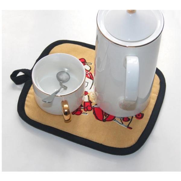 Kitchen full print Heat Resistant pot holder mat