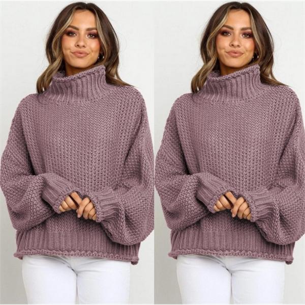 Ladies Turtleneck Sweater,Women's Knitwear,Winter warm sweat