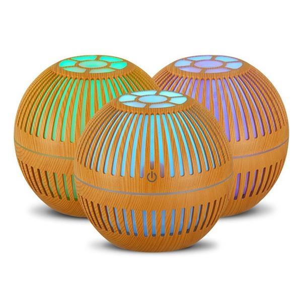 130 ml Wood Grain Ultrasonic Perfume Air Humidifier