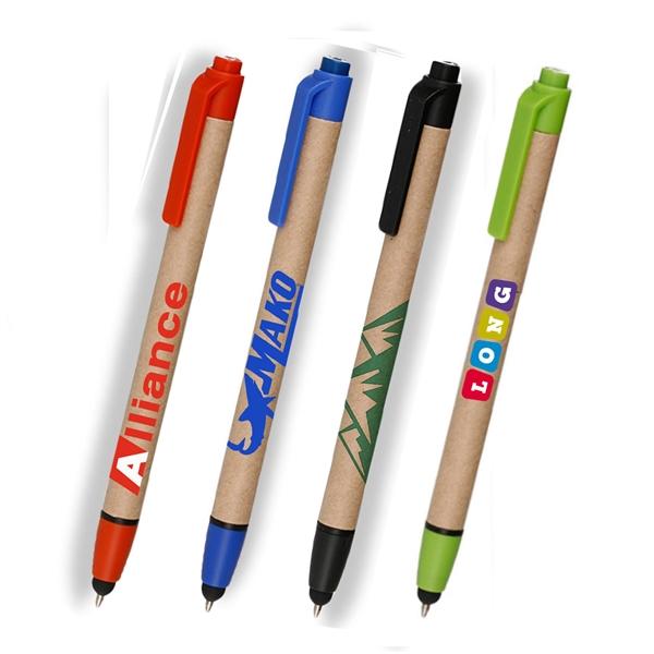 Eco-friendly Ballpoint Stylus Pens w/ Custom Logo Recycled