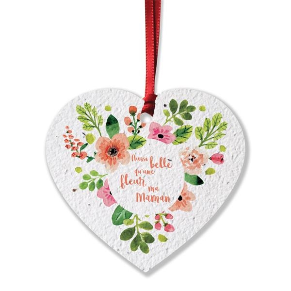 Heart Shaped Seed Paper Product Tag