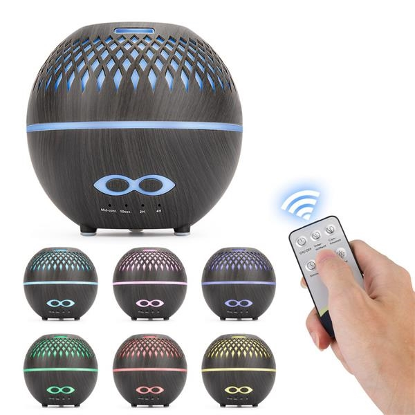 400ML 7 color LED Light Hollow Humidifier