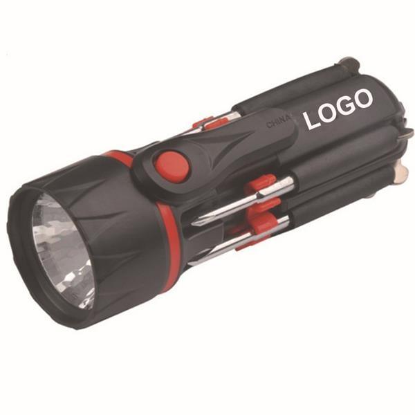 Flashlight With Multi Screwdrivers