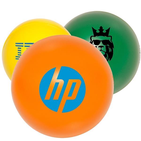 Round Stress Ball w/ Custom Logo Foam Nerve Reliever