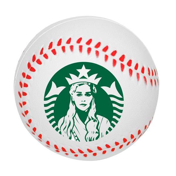 Baseball Stress Ball w/ Custom Logo PU Tension Relievers