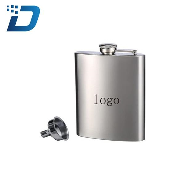 8 Oz Stainless Steel Flask & Funnel