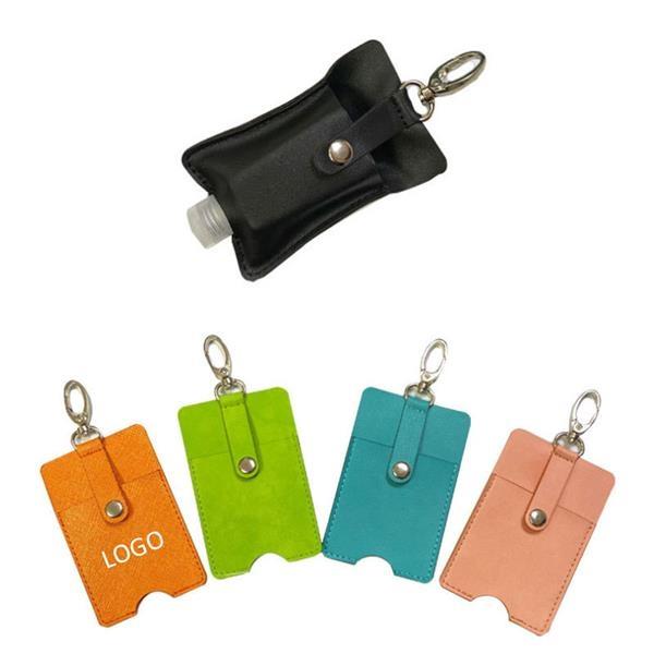 Leather Keychain Holder for Hand Sanitizer
