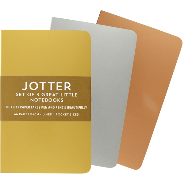 Foil Jotter Notebook - Set of 3
