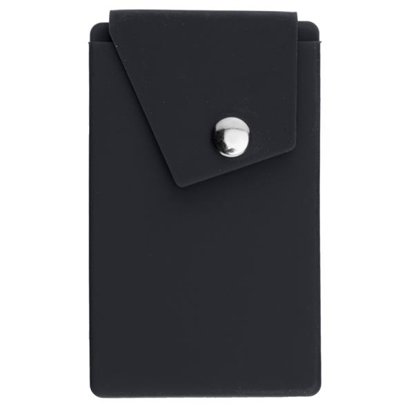 Silicone Phone Pocket with Stand - Silicone phone pocket with stand.