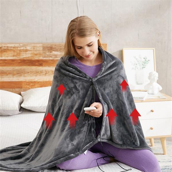 Temperature adjustable Heating Shawl Blanket