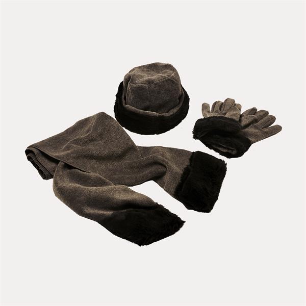 Acrylic Fleece with Faux Fur Set