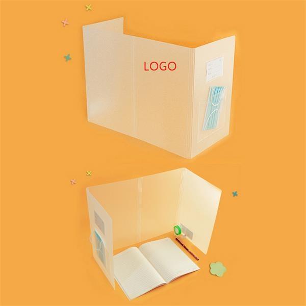 Foldable PP Protective Shield Isolation Board Desk Shield