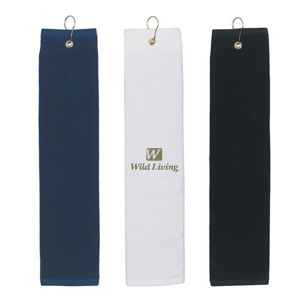 Tri-fold 100% Golf towel