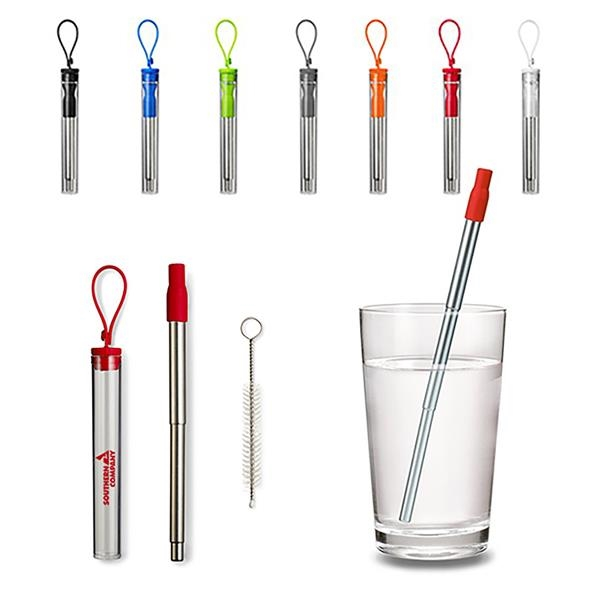 Compact Extending Drinking Straw Kit