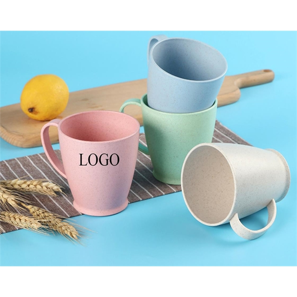 Tall Wheat Straw Plastic Cups with Handle